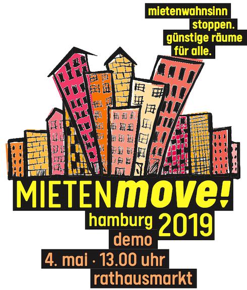 Aufruf zum  MIETENmove! – Demonstration für eine solidarische und soziale Wohnraumpolitik